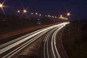 The Uks Largest Freeway At Night