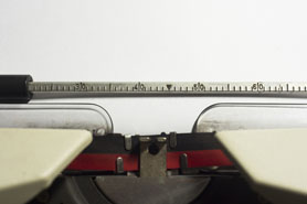 A Close Up Of Typewriter