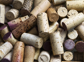 Close Up Of Group Of Wine Corks