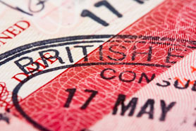 British Visa Entry And Exit Stamp In Passport