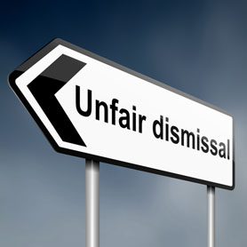 Illustration Depicting A Road Traffic Sign With An Unfair Dismissal Cost Concept