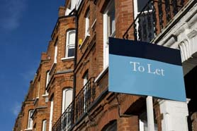 Townhouses With To Let Sign In Kensington